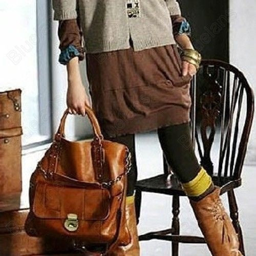 Bags - 100% PU Leather Vintage Fashion Shoulder Bag