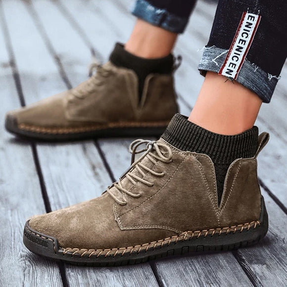 Kaaum Luxury High Quality Cow Suede Ankle Boots
