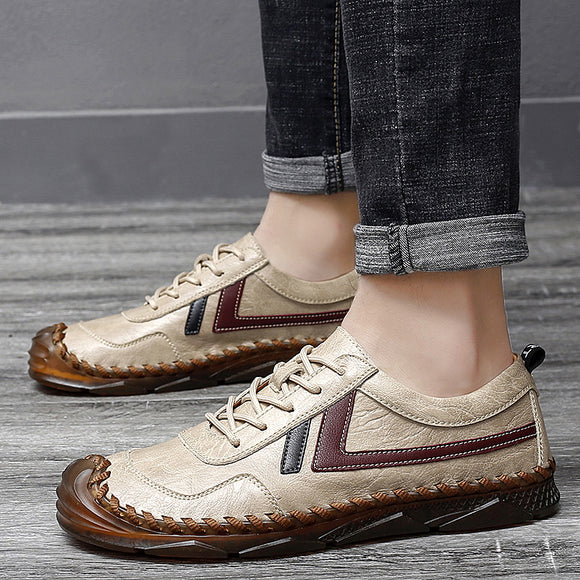 Kaaum Soft Cow Leather Large Size Daily Casual Shoes