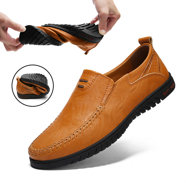 Plus Size Men Genuine Leather Comfortable Casual Shoes