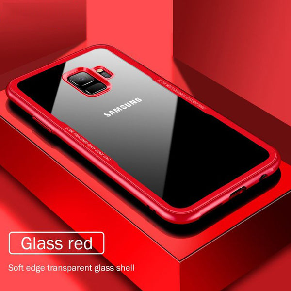 Phone Case - Luxury Tempered Glass Phone Case For Samsung NOTE 8 S9 S8/Plus S7Edge