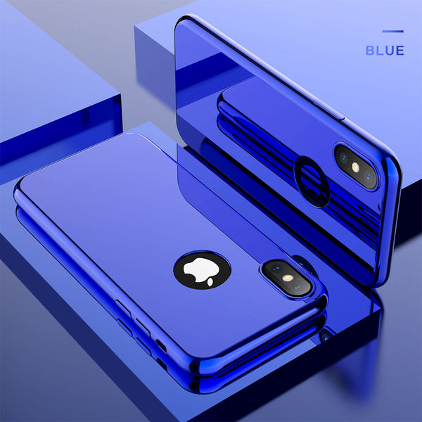 Phone Case - 360 Full Protection Plating Mirror Case For iPhone X 8 7 6 5 + Free Screen Protector Film( Buy One Get One 20% Off )