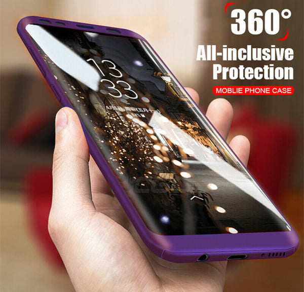 Phone Case - Luxury 360 Degree Shockproof Phone Case With Tempered Screen Film For Samsung Galaxy Note 8 S8/S8 Plus S7 Edge