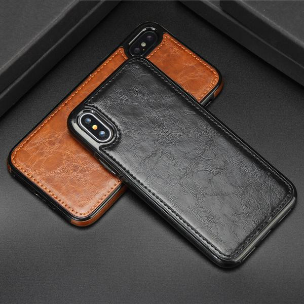 detailed look 0dea6 3aa02 Phone Cases - Vintage Magnetic Absorption Leather Case for iPhone