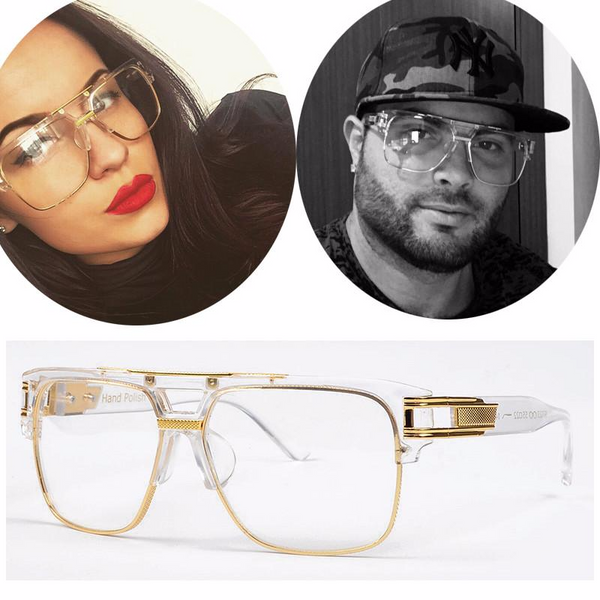 a4f55180859 Vintage Oversize Clear Lens Glasses →Buy one get one 40% OFF – Kaaum
