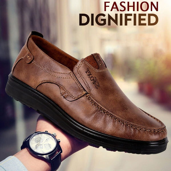 d906419c8 Shoes - Men's Plus Size Breathable Soft Leather Casual Loafers – Kaaum