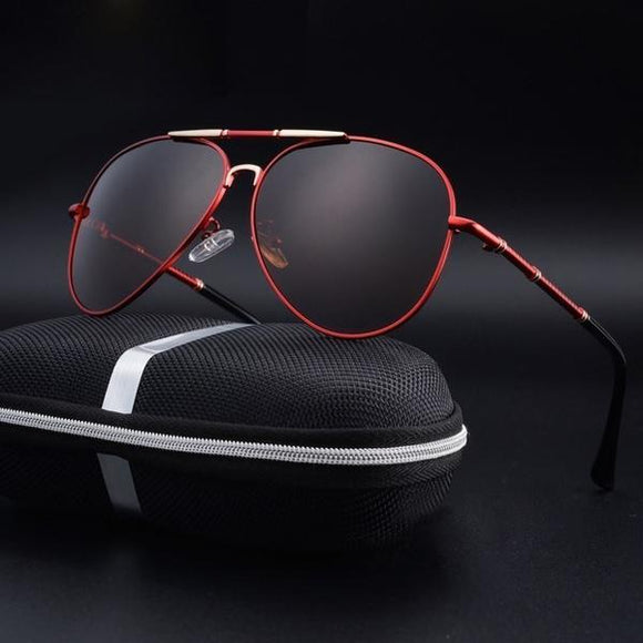 Sunglasses - 2019 Trend Aluminum Magnesium Men's Polarized Pilot Sunglasses
