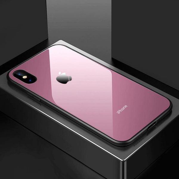 Phone Case - Ultra Thin 9H Hardness Tempered Glass Phone Case For iPhone X 8 8 Plus 7 7 Plus