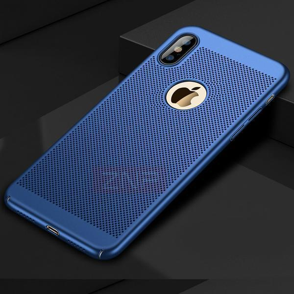 Phone Accessories - Hard PC Matte Full Cover Heat Dissipation Case For iPhone X 8 7 6S 6 Plus(Free Tempered Glass Screen Protector!!)