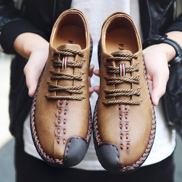 HOT SALE BRAND Gentleman Classical Retro Casual Leather Shoes
