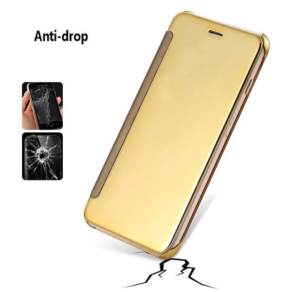 Phone Case - Leather PC Flip Mirror Clear Window Case for iPhone(Buy 2, second one 30% off)