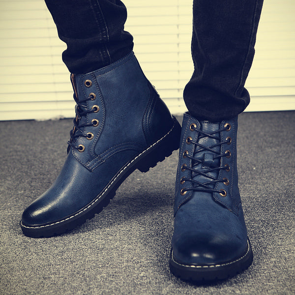 2019 Fashion Genuine Leather Pointed Toe Casual Boots