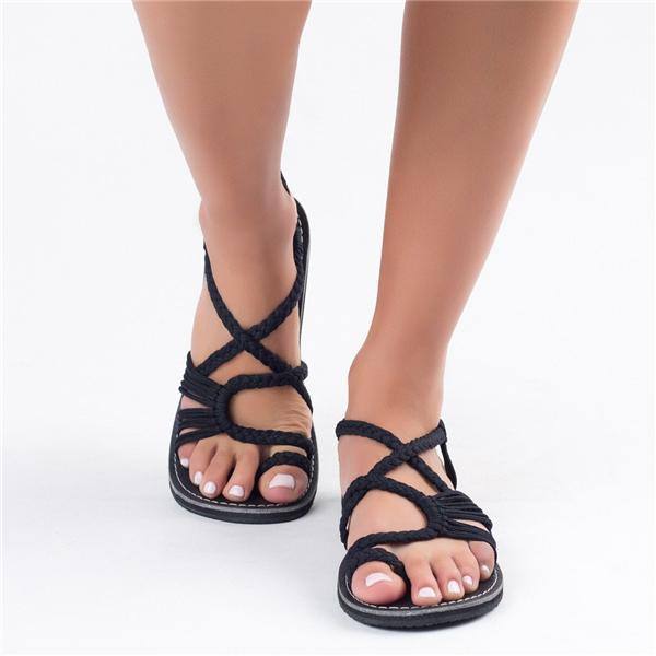 Handmade Breathable Bandage Beach Flat Sandals
