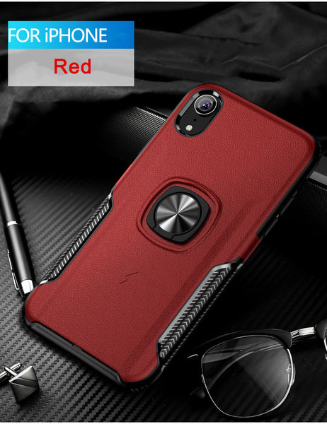 Phone Case - Luxury Fashion Creative Hidden Magnetic Ring Holder Case For iPhone X XR XS(Max) 8 7 6S 6/Plus