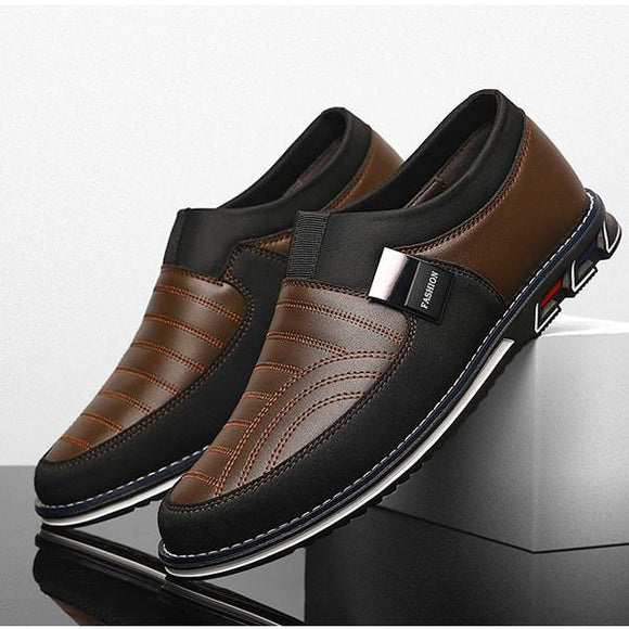 Casual Breathable Slip On Formal Business Walking Shoes