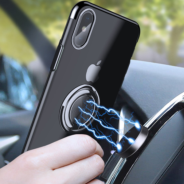 Clear Ring Stand Holder Case For iPhone
