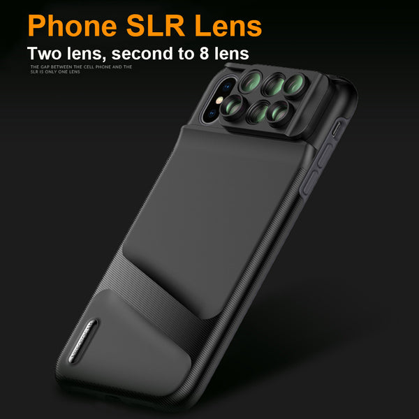 timeless design d9aee ed272 6 in 1 Fisheye Wide-angle Macro Camera Lens Case For iPhone X/XR/XS Max
