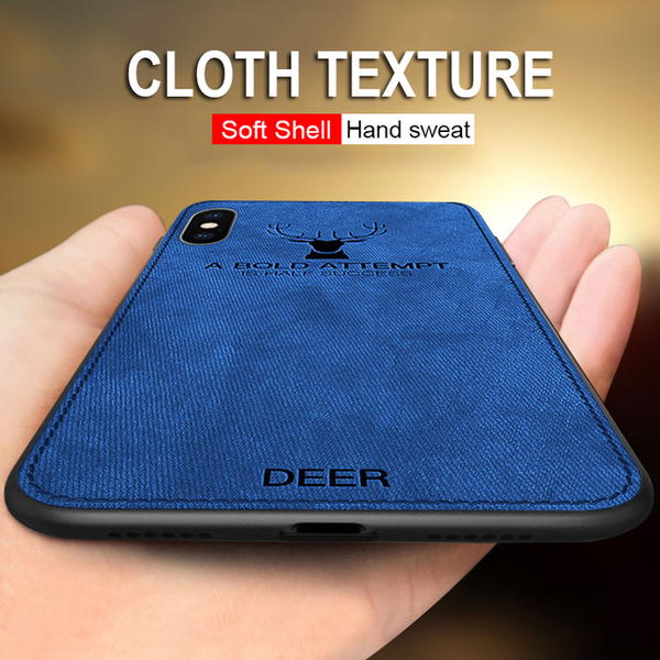 2018 Luxury Soft Cloth Texture Deer Case For iPhone X XS XS Max XR 7 8 Plus