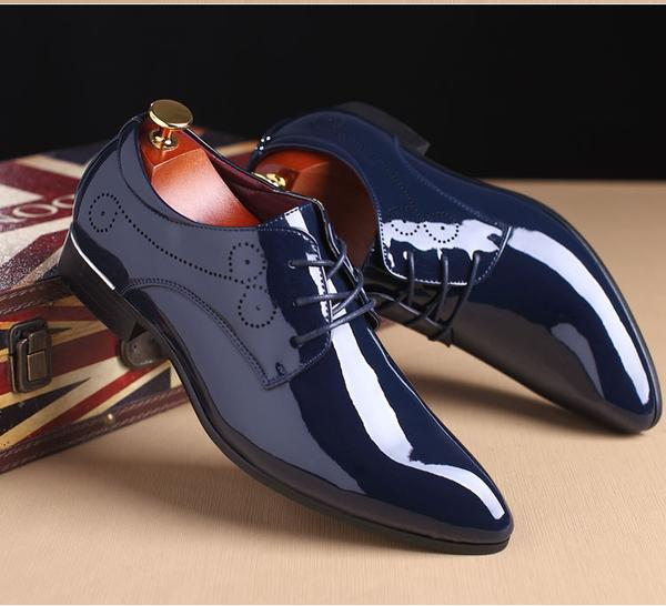 8987638178b7 Shoes - 2018 New Patent Leather Men s Fashion Dress Shoes(BUY ONE GET –  Kaaum