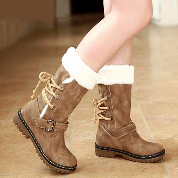 Boots - Outdoor Keep Warm Fur Boots Waterproof Women s Snow Boots (Buy 2  Get 5 ab219a3596