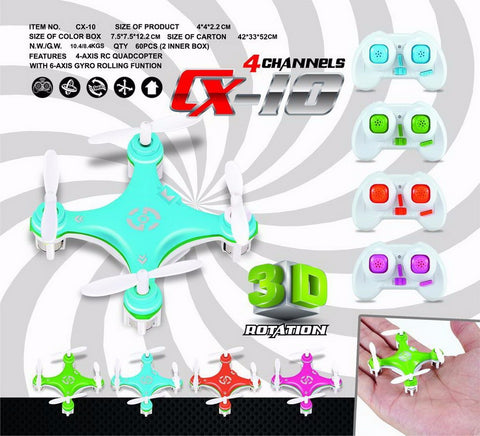 Mini Drone - Cheerson CX-10 2.4GHz 4CH