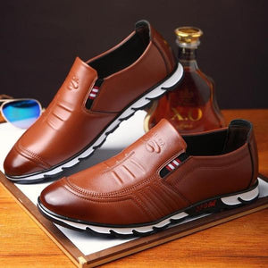 Shoes - Luxury Comfortable Men Handmade Casual Leather Shoes