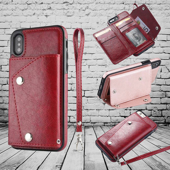2018 New arrival Wallet Flip PU Leather Case For iPhone X XS Max XR 7 8 Plus
