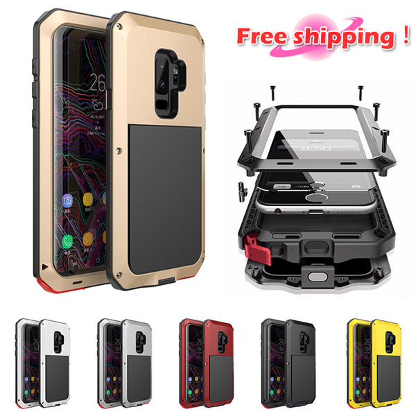 finest selection 980b7 40001 Phone Case - Luxury Doom Armor Dirt Shock Waterproof Metal Aluminum Phone  Case For Samsung Galaxy S9 /S9Plus/Note8/S8/S8PLUS + Tempered Glass(Buy ONE  ...