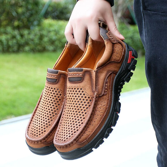 Shoes - 2020 Breathable Spring Summer Genuine Leather Casual Men Shoes