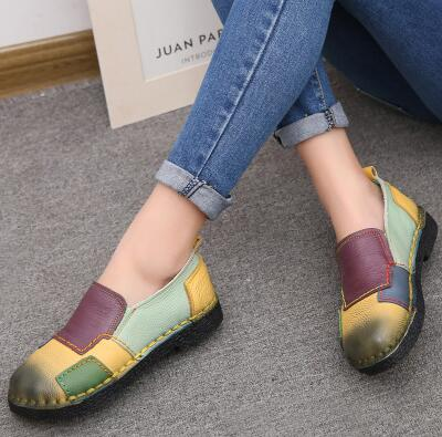 Shoes -  Fashion Women Genuine Leather Loafers(Buy 2 Got 5% off, 3 Got 10% off Now)