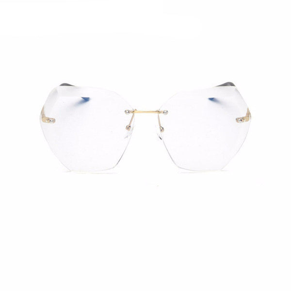 Sunglasses - Luxury Oversize Rimless Transparent Gradient Sunglasses