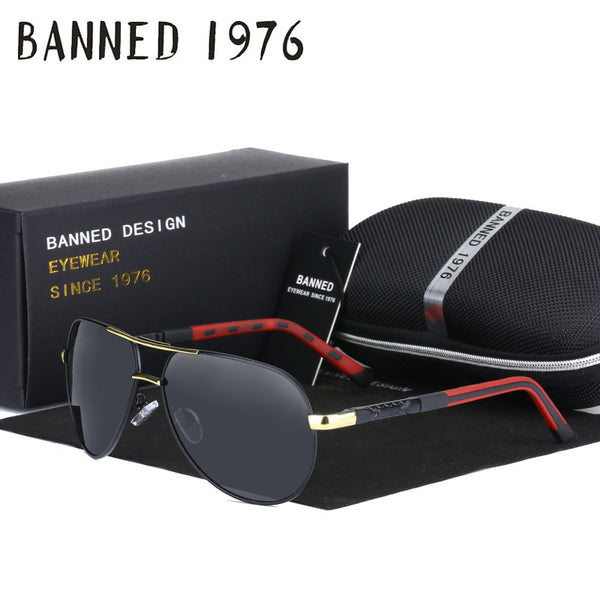 Sunglasses - Vintage Aluminum Anti Glare HD Polarized Sunglasses