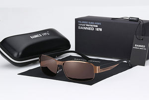 Brand Designer HD Polarized Men Sunglasses With Box