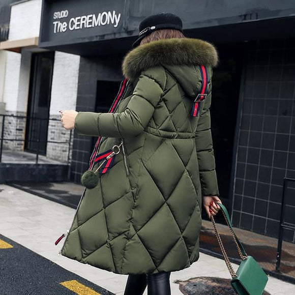Women's Clothing - Women's Thickened Parka Slim Long Winter Jacket(Buy 2 Got 5% off, 3 Got 10% off Now)
