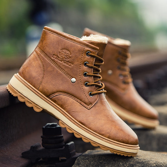 Shoes - 2018 High Quality Leather Men Martin Boots