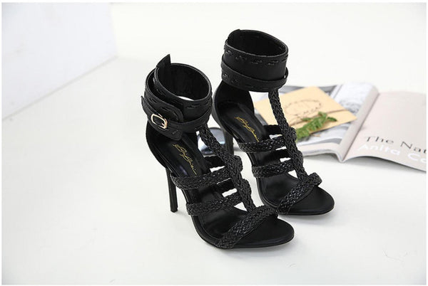Women's Shoes - Fashion Summer Sexy Gladiator Bandage Cross Tied Thin High Heels Sandals