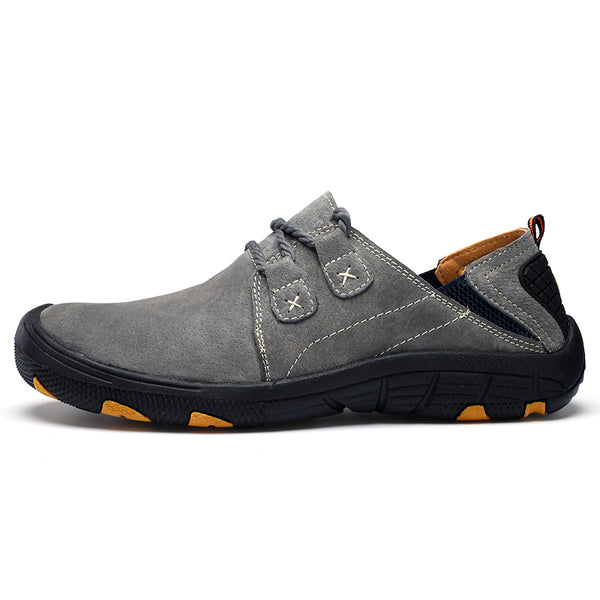 Men's Shoes - Fashion Genuine Leather Plus Size Men Breathable Outdoor Training Shoes