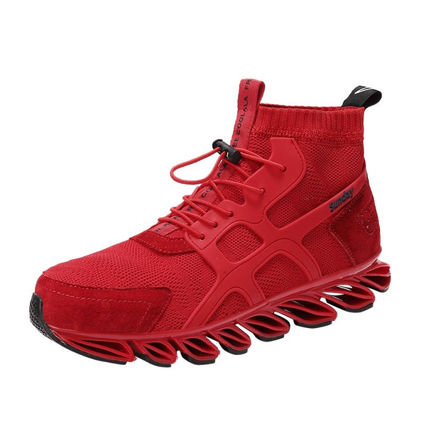 Men's Shoes - High Top Outdoor Breathable Jogging Shoes