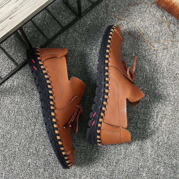 Shoes 2018 Hand Sewing Comfortable Office Flats Mens Casual Shoes