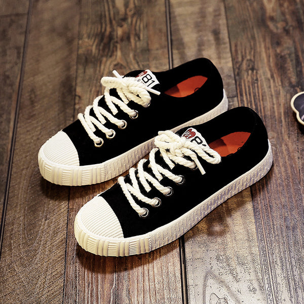 Women's Shoes - Skateboard Canvas Leisure Sneakers