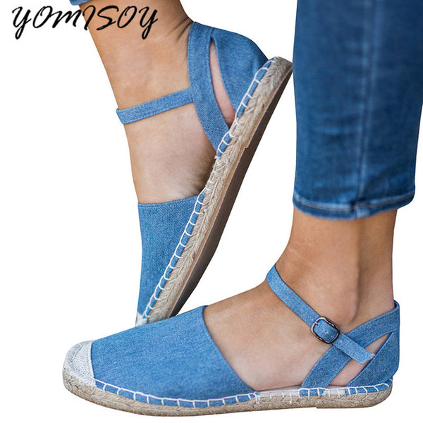 Fashion Women Buckle Strap Comfortable Casual Flats