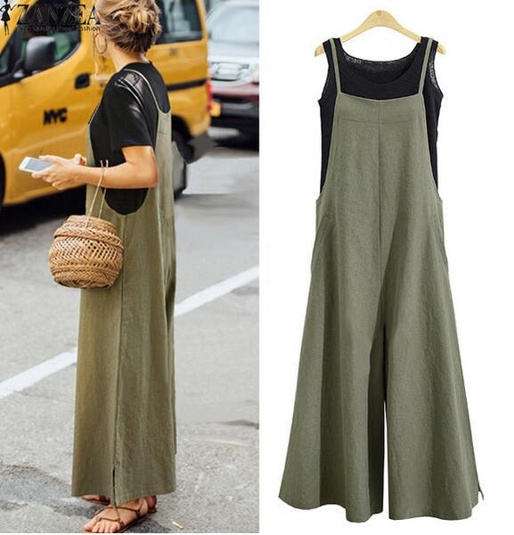 Pants - 2019 Summer Ladies Casual Jumpsuit Long Suspender Overalls Bib Pants