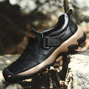 2019 Winter Genuine Leather Hiking Warm Outdoor Non-slip Climbing Causal Shoes