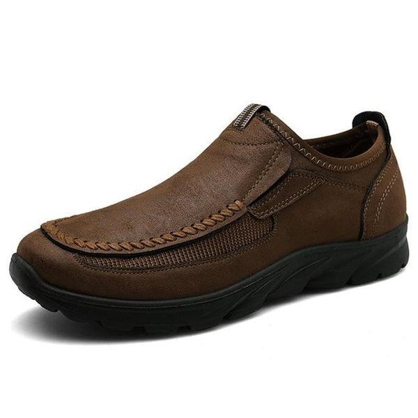 Kaaum-Mens Leather Outdoor Ultralight Breathable Casual Shoes