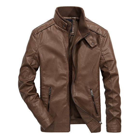 Men's Clothing - Autumn Winter Men's Leather Jacket