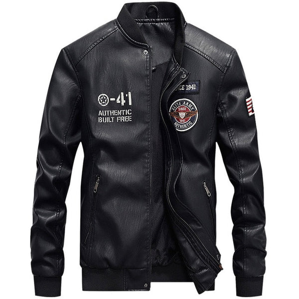 Men's Clothing - Winter Fashion Men's Motorcycle Leather Jacket