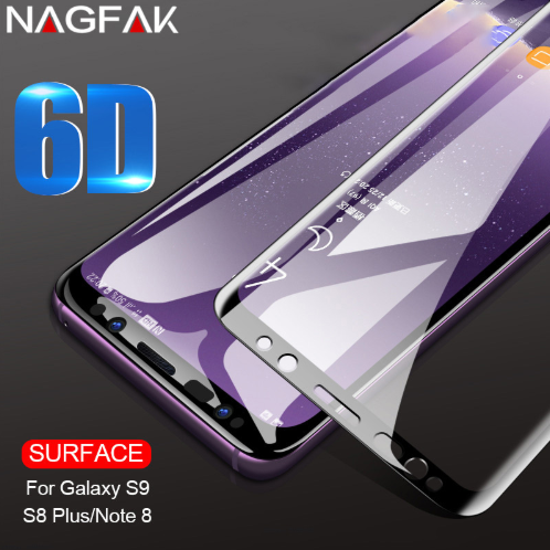 Curved Protective Tempered Glass For Samsung S6 S7 Edge S8 S9+ Note 8