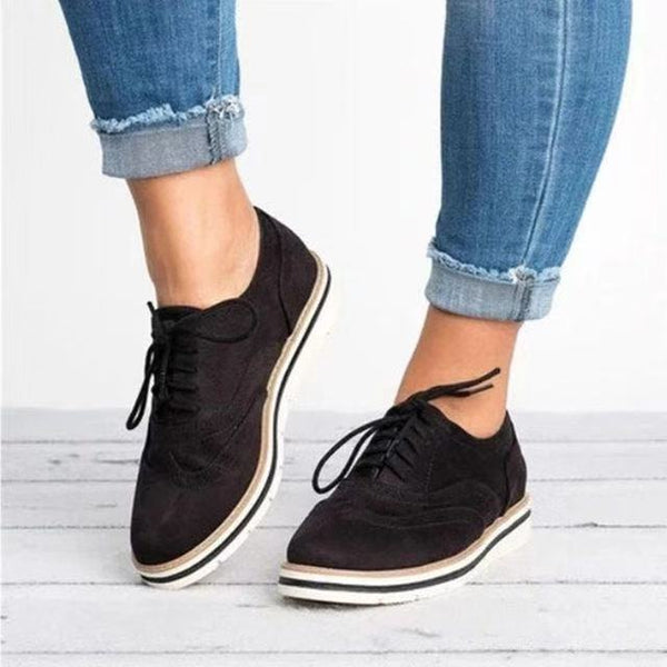 2019 British Style Cut-Outs Flat Casual Shoes