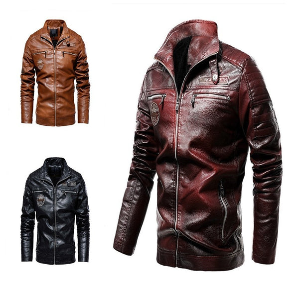 Kaaum Motorcycle Suit Modern Tough Velvet Leather Jacket