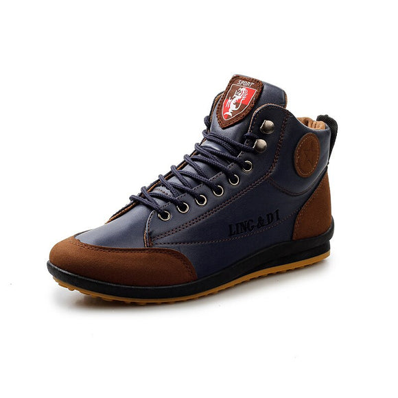 Kaaum British High-top Retro Leather Boots